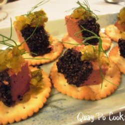 Pork Liver Pate On Crackers recipe