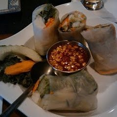 Crab Spring Roll With Ginger Dipping Sauce