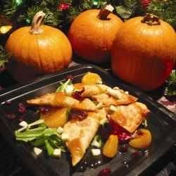 Pumpkin Apple And Cranberry Wontons With Honey-ora...