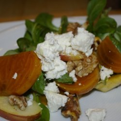 Golden Beet - Apple Salad With Walnuts And Chevre