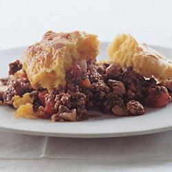 Cheesy Beef And Cornbread Cobbler - Pie