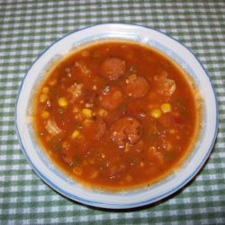 Corn Shrimp And Sausage Soup recipe