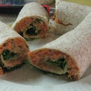 Elaines Healthy Salmon Tortilla Wraps