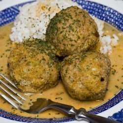 Chickpea Balls With Coconut-curry Sauce