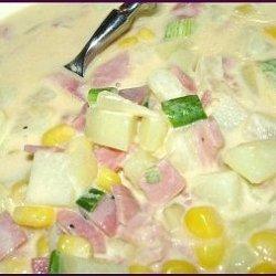 Creamy Dreamy Country Potato Corn Soup Chowder