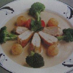 Sauted Boneless Breast Of Chicken With Mushroom Sa...