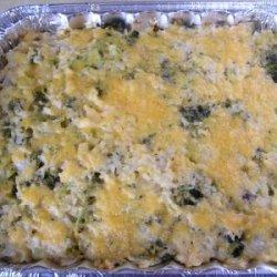 Cheesy Chicken  Brocolli And Rice Casserole