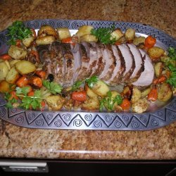 Roasted Spiced Pork Loin With Root Vegetables