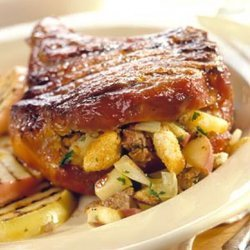 Grilled Apple-stuffed Pork Chops