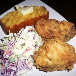 Fried Chicken With Classic Coleslaw