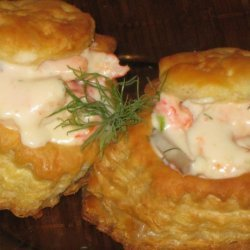 Creamy Seafood In Puff Pastry