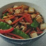 Noodle Bowl With Stir-fried Vegetables Tofu And Pe...
