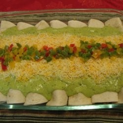 Beef Enchilada Suizas With Green Chile Sauce recipe