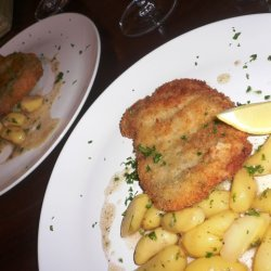 Pork Schnitzel With Warm Fingerling Potato Salad