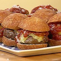 Texas Hold-ums Mini Chipotle Beef Burgers With War... recipe