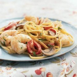 Creamy Cajun Shrimp Linguine recipe