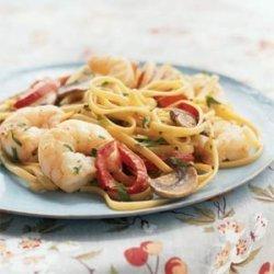 Creamy Cajun Shrimp Linguine recipe
