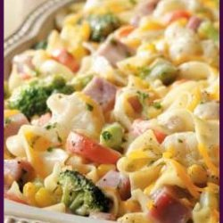 Ham And Noodle Casserole With Vegetables
