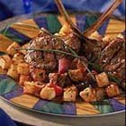 Grilled Marinated Lamb Chops With Crispy Potato Cr...