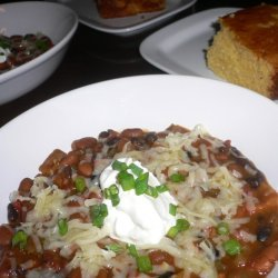 Vegetarian Chili With Honey Cornbread recipe