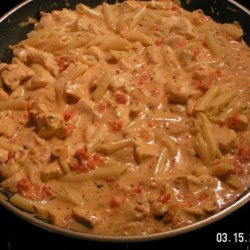 Chicken In A Tangy Italian Cream Sauce And Pasta