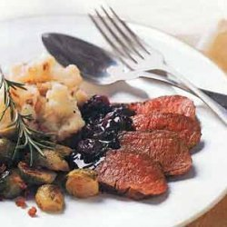 Pan-seared Venison With Rosemary And Dried Cherrie...
