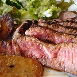 Coffee Rubbed Grilled Steaks