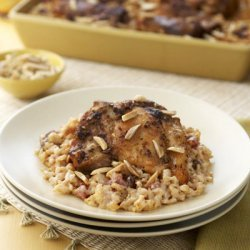 Moroccan-spiced Chicken With  Rice Bake