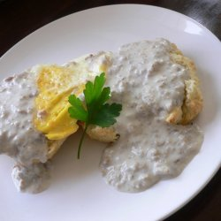 Biscuits N Sausage Cream Gravy