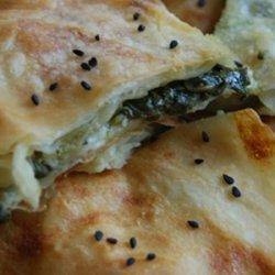 Spinach Borek -flaky Spinach Pie
