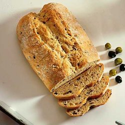 Anchovies And Lemon On Black Olive Bread recipe
