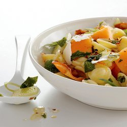 Pasta Salad with Melon, Pancetta, and Ricotta Salata recipe