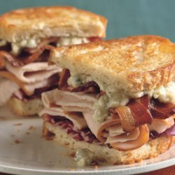 Grilled Turkey, Bacon, Radicchio, and Blue Cheese Sandwiches recipe