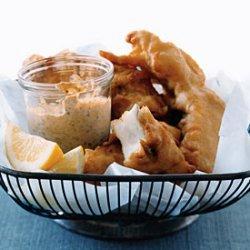 Beer-Battered Fish with Smoked-Paprika Mayonnaise