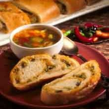 Homemade  French Bread  Stuffed With Green Chile A...
