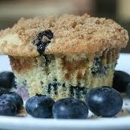 Jumbo Crumbly Blueberry Muffins