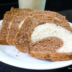 Wholemeal Chocolate Marble Swirl Toast Bread recipe