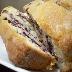 Citrus Glazed Blueberry Bread