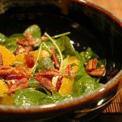 Orange Cranberry Pecan Mixed Green Salad