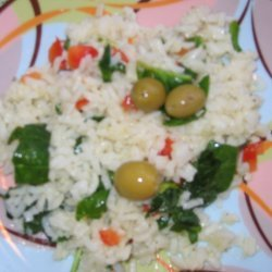 Healthy Rice  Spinach Salad recipe