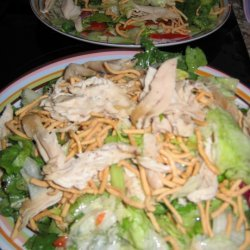 Chopstick Chicken Salad With Ginger Soy Dressing