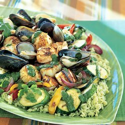 Seafood Salad With Cilantro Dressing