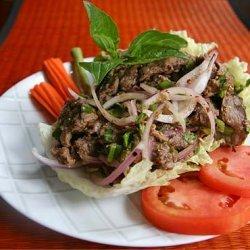 Thai Beef Salad Yam Neua Num Tok