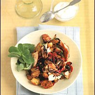Smoked Salmon Hash With Dill Vinaigrette recipe