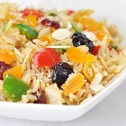 Curried Coconut Rice Salad With Dried Fruit And Al...