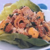 Chicken Salad With Peaches And Salted Cashews