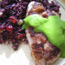 Onion-crusted Cod With Wild Rice Salad