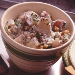 Blue Cheese Walnut Potato Salad