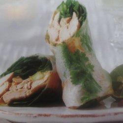 Thai Green Curry Chicken Salad Rolls