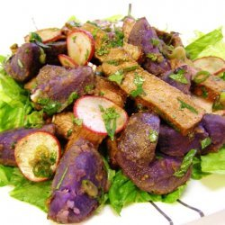 Steak And Purple Potato Salad